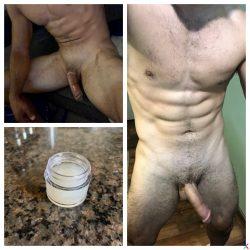 Small jar of cum