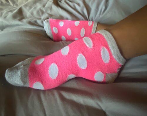 Pink polka-dots
